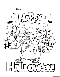 happy halloween coloring pages getcoloringpages
