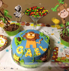 babyshower theme jungle theme baby shower table decoration ideas