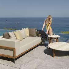 canapé de jardin design canapé de jardin en teck cleo