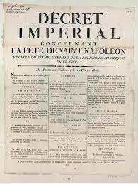 Décrets De 1950 Retour Vers Le Passé Napoléon Un Pour La Nationcontribution à L Imaginaire