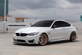 stanced bmw m4 alpine white bmw f82 m4 adv06r m v2 cs wheels adv 1 wheels