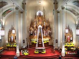 roman catholic church interior church interior color scheme