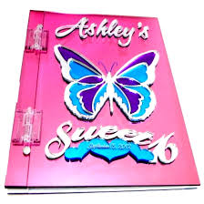 sweet 16 guest book butterfly sweet 16 memory sign in book