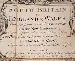 Antique Writing Paper Large Antique 1777 Map Of England Or South Britain Wales By