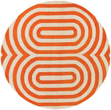 Modern Orange Rugs Thomaspaul Geometric Designer Area Rug