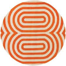 Modern Orange Rug Thomaspaul Geometric Designer Area Rug