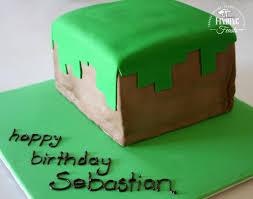 checkered birthday cake u2013 dirt block minecraft cake