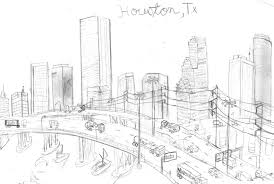houston skyline drawing by maxis the wise on deviantart