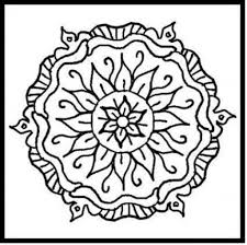 simple cool flower coloring pages pipress for flower design