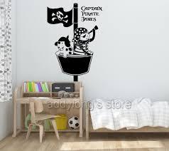 chambre pirate gar n personnalisé nom pirate sticker mural chambre navire