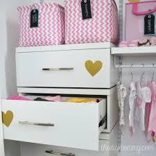Baby Closet Storage An Organized Baby Closet With Closetmaid Shelftrack Elite The
