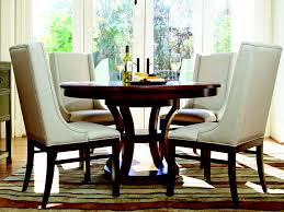 dining room cool brown striped rug with small round white wooden