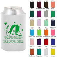 wedding personalized koozies wedding coozies clipart 1693 country wedding personalized