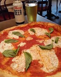 margherita pizza w house beer pizzanista in long beach