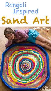 rangoli inspired sand art kids craft room