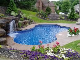 cool inground pool design swimming pool small inground pool design