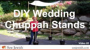 chuppah poles how to make your own wedding chuppah pole stands sew