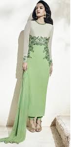 pista colour buy apparels pista green colour georgette designer party wear suit