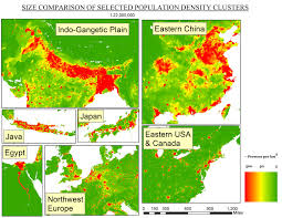 Population Density Map Of Canada by Oc Size Comparison Of Population Density Clusters 3108x2402 Mapporn