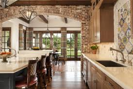 modern design of the interior the brick and cinderblock house with