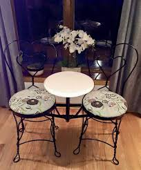 ice cream table and chairs ice cream parlor chairs and mini table furniture in oak lawn il