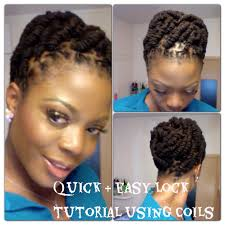 simple and quick lock hairstyle using coils youtube