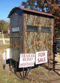 deer blind fully portable built on a small trailer so it can be