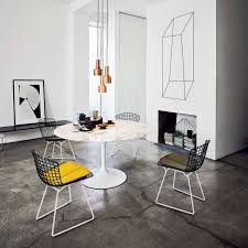 bertoia two tone side chair with seat cushion by knoll yliving