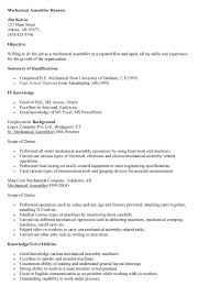 Sample Resume For Assembly Line Operator by Assembler Resume Sample Medical Assistant Resume Sample Writing