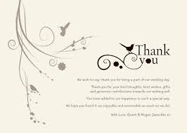 sles of thank you notes how to write a wedding thank you card for money wedding ideas 2018