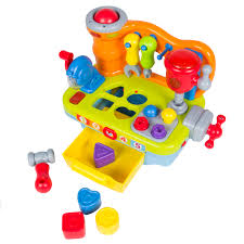 musical learning pretend play tool workbench toy fun sound effects