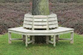 tree seat hexagonal