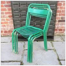 Tolix Bistro Chair Tolix Style Green Bistro Chairs Mayfly Vintagemayfly Vintage