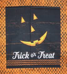Halloween Fabric Panels by Jeepers Creepers Halloween 3 Block Clothworks Cotton Fabric Panel