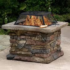 Bbq Firepit 29 Outdoor Garden Patio Pit Brazier Bbq Firepit Square Metal