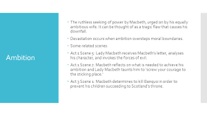 Seeking Theme Macbeth Links To Themes In Macbeth Ambition The Ruthless
