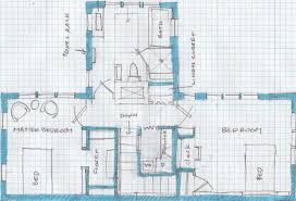 Shape House by T House With Central Fireplace Blueprinting