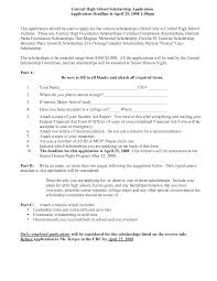 Resume For Scholarship Application Example by Scholarship On Resume Free Resume Example And Writing Download