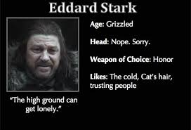 Meme Trading Cards - game of thrones trading cards eddard stark game of thrones memes
