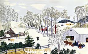 will moses christmas cards early springtime on the farm by moses robertson