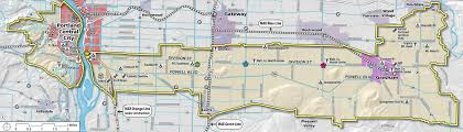 Portland Oregon Neighborhood Map by Powell Division Transit And Development Project The City Of