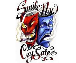 tattoo smile now cry later by rokkell on deviantart