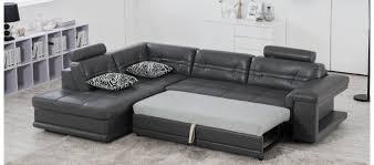 canapé d angle en cuir gris canapés convertibles designetsamaison designetsamaison