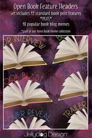 Book Blog Memes - book blog feature headers jellydog design