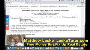 how to get free money for real estate like donald trump youtube