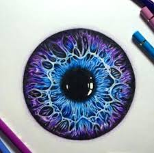 purple eye color color pencil drawing ideas drawing of a purple and blue eye color