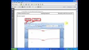 microsoft office word 2007 tutorial pdf ebook youtube