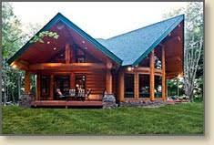 post and beam log homes