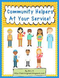 mrs k u0027s teachable moments community helpers