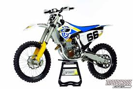motocross bike stand motocross action magazine 2014 test ride husqvarna fc450